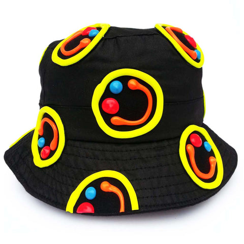 MULTI SQUIDGY FACE RAVE HAT BLACK