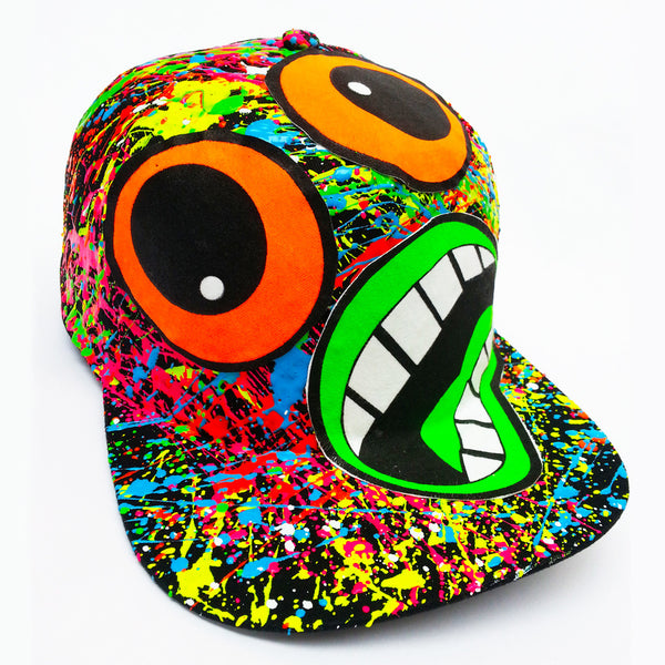 COUCHUK - UV REACTIVE - SCREAM CAP BLACK - Clubwear - PLUR - Rave clothing