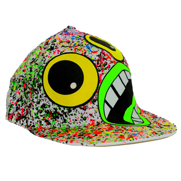 COUCHUK - UV REACTIVE - SCREAM CAP WHITE - Clubwear - PLUR - Rave clothing