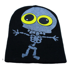COUCHUK - UV REACTIVE - LITTLE TWISTED SKELLY BEANIE - Clubwear - PLUR - Rave clothing