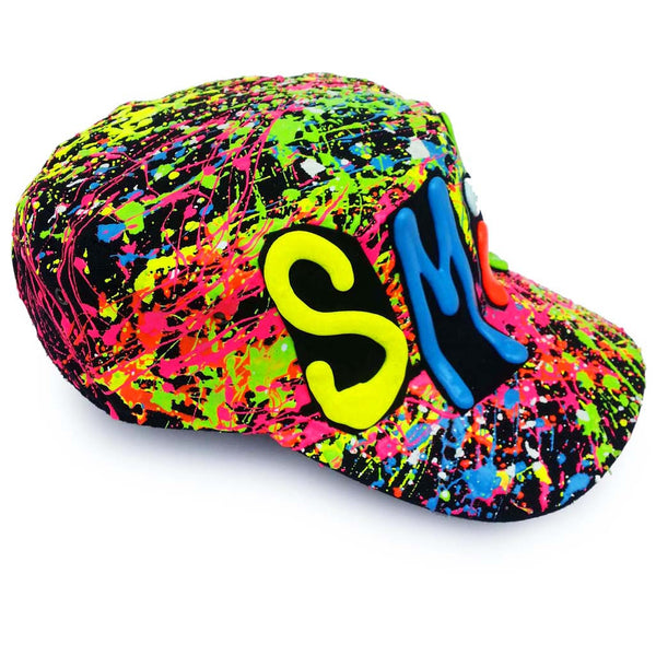 COUCHUK - UV REACTIVE - SMILE ARMY CAP - Clubwear - PLUR - Rave clothing