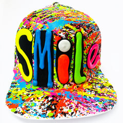 SMILE TRUCKER CAP WHITE