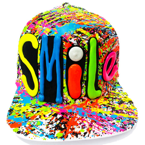 SMILE FLATPEAK CAP WHITE