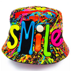 SMILE RAVE HAT BLACK MULTI