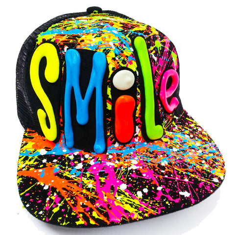 SMILE TRUCKER CAP BLACK