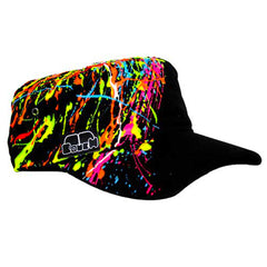 COUCHUK - UV REACTIVE - SPLASH ARMY CAP - Clubwear - PLUR - Rave clothing