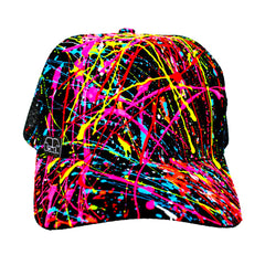 COUCHUK - UV REACTIVE - SPLASH TRUCKER CAP BLACK - Clubwear - PLUR - Rave clothing