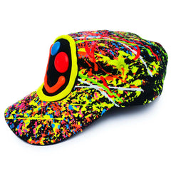 COUCHUK - UV REACTIVE - SQUIDGY FACE ARMY CAP - Clubwear - PLUR - Rave clothing
