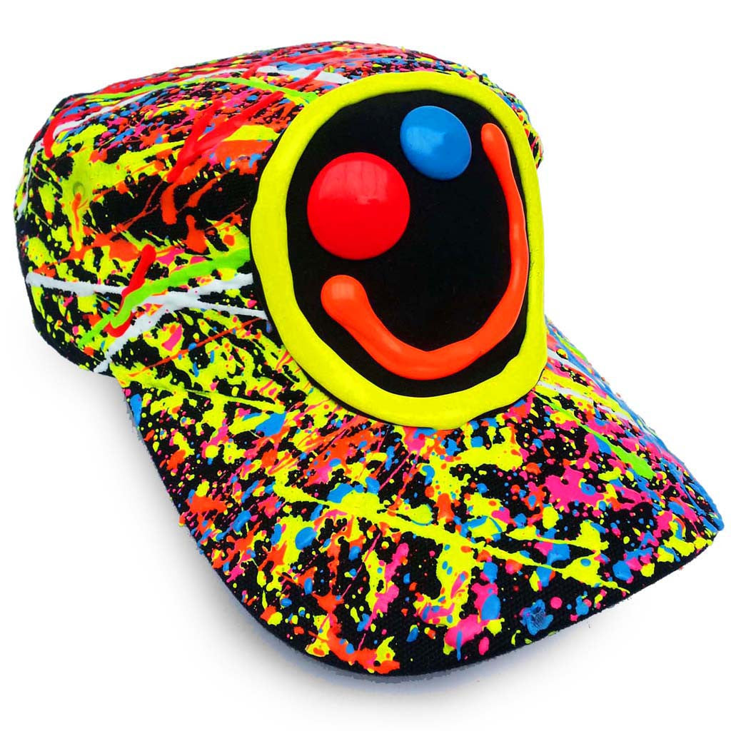 81d6107ed0b COUCHUK - UV REACTIVE - SQUIDGY FACE ARMY CAP - Clubwear - PLUR - Rave  clothing ...