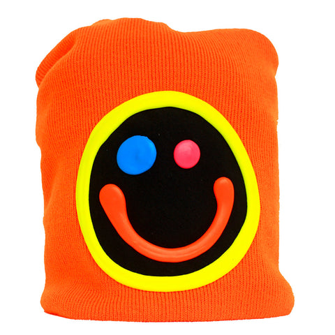 SQUIDGY FACE BEANIE ORANGE