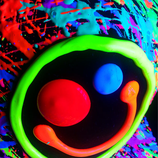 COUCHUK - UV REACTIVE - SQUIDGY FACE CAP BLACK - Clubwear - PLUR - Rave clothing