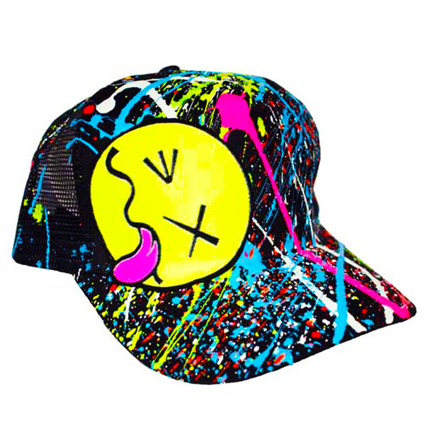 YELLOW TONGUE TRUCKER CAP WHITE