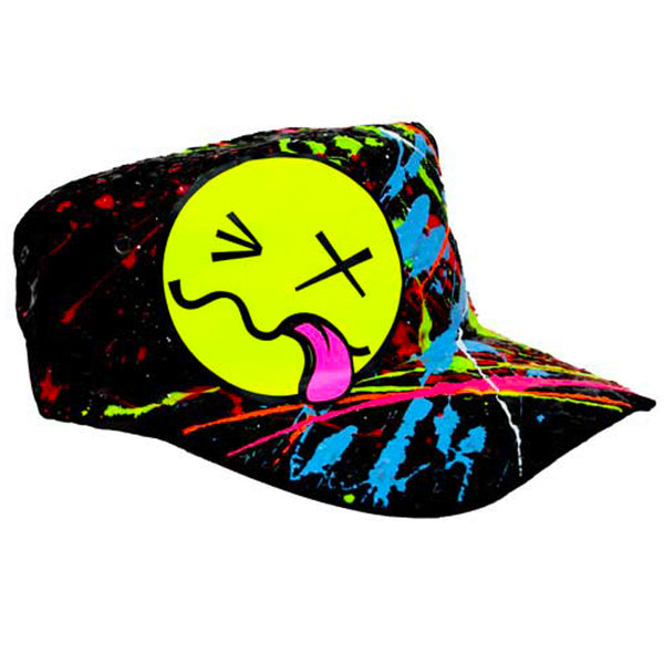 COUCHUK - UV REACTIVE - YELLOW TONGUE ARMY CAP - Clubwear - PLUR - Rave clothing