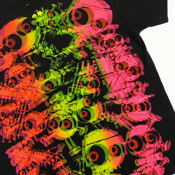 COUCHUK - UV REACTIVE - JUDDER KIDS T-SHIRT BLACK/MULTI - Clubwear - PLUR - Rave clothing
