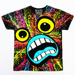 COUCHUK - UV REACTIVE - SCREAM KIDS T-SHIRT BLACK - Clubwear - PLUR - Rave clothing