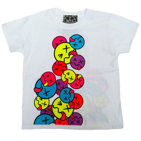 TONGUE FACE KIDS T-SHIRT WHITE