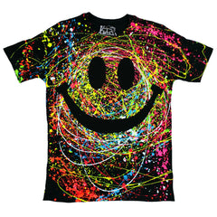 COUCHUK - UV REACTIVE - GRIN T-SHIRT BLACK - Clubwear - PLUR - Rave clothing