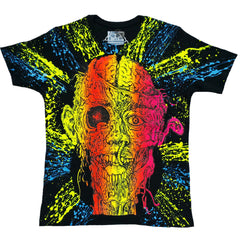 COUCHUK - UV REACTIVE - GURT ZOMBIE UNISEX T-SHIRT BLACK - Clubwear - PLUR - Rave clothing