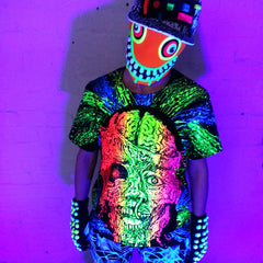 COUCHUK - UV REACTIVE - GURT ZOMBIE T-SHIRT BLACK - Clubwear - PLUR - Rave clothing