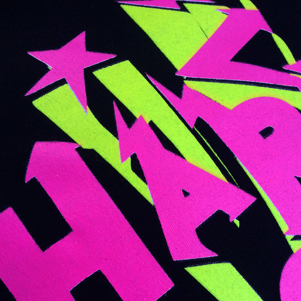 COUCHUK - UV REACTIVE - HARDER FASTER T-SHIRT BLACK - Clubwear - PLUR - Rave clothing