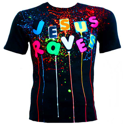 JESUS RAVES T-SHIRT MULTI BLACK