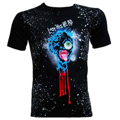 COUCHUK - UV REACTIVE - LOST HIS HEAD UNISEX T-SHIRT MULTI BLACK - Clubwear - PLUR - Rave clothing