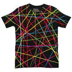 COUCHUK - UV REACTIVE - SCRIBBLE T-SHIRT BLACK - Clubwear - PLUR - Rave clothing