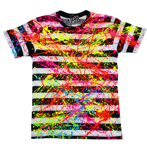 SPLAT UNISEX T-SHIRT STRIPE