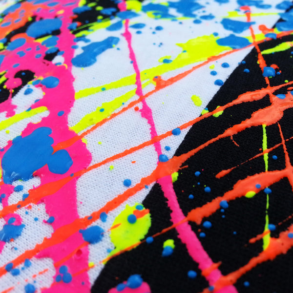 COUCHUK - UV REACTIVE - SPLAT UNISEX T-SHIRT STRIPE - Clubwear - PLUR - Rave clothing
