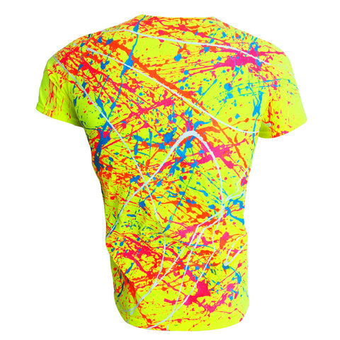 NEON SPLAT T-SHIRT YELLOW