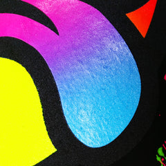 COUCHUK - UV REACTIVE - RAINBOW TONGUE T-SHIRT BLACK - Clubwear - PLUR - Rave clothing