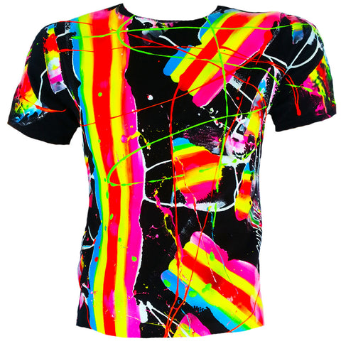 SCRAPE T-SHIRT MULTI COLOURED