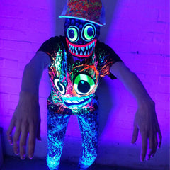 COUCHUK - UV REACTIVE - SCREAM T-SHIRT BLACK - Clubwear - PLUR - Rave clothing