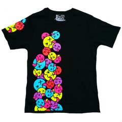 COUCHUK - UV REACTIVE - SIDE TONGUE UNISEX T-SHIRT BLACK - Clubwear - PLUR - Rave clothing