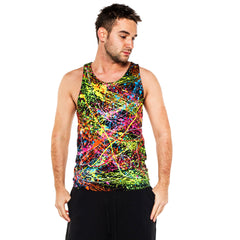 COUCHUK - UV REACTIVE - SPLAT BEATER VEST - Clubwear - PLUR - Rave clothing