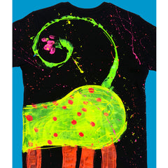 SPLAT MONSTER YELLOW T-SHIRT BLACK