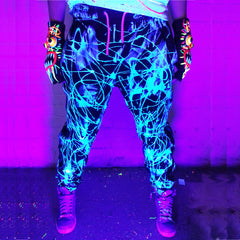 COUCHUK - UV REACTIVE - SCRAPE TRACKIES BLUE - Clubwear - PLUR - Rave clothing