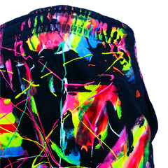 COUCHUK - UV REACTIVE - SCRAPE TRACKIES MULTI - Clubwear - PLUR - Rave clothing