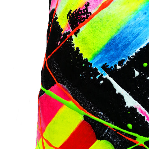 SCRAPE MINI SKIRT MULTI COLOURED