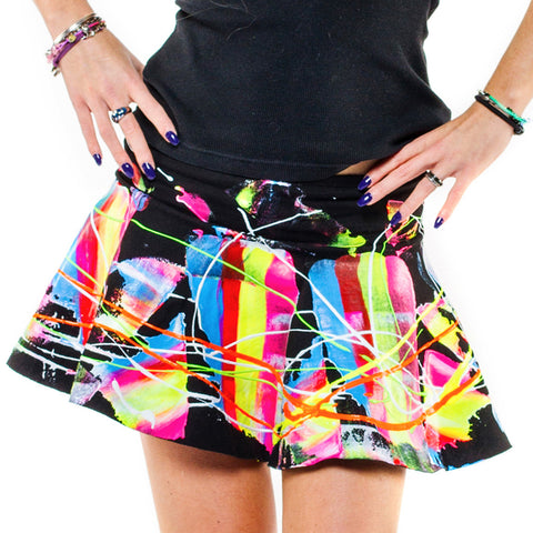 SCRAPE SKATER SKIRT MULTI