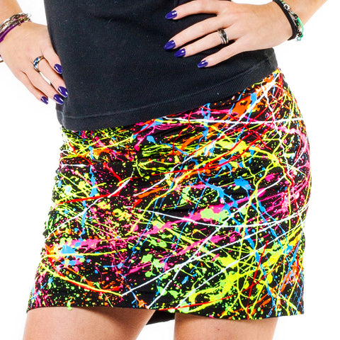 SPLAT MINI SKIRT MULTI COLOURED