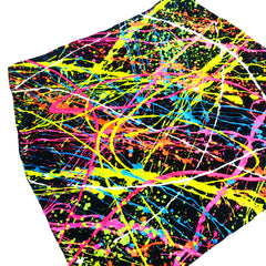 COUCHUK - UV REACTIVE - SPLAT MINI SKIRT MULTI COLOURED - Clubwear - PLUR - Rave clothing