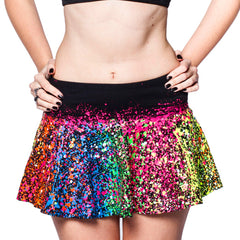 MULTI SPLAT SKATER SKIRT