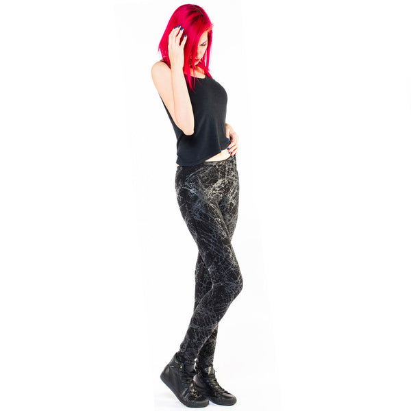 COUCHUK - UV REACTIVE - SPLAT LEGGINGS BLACK - Clubwear - PLUR - Rave clothing