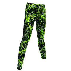 COUCHUK - UV REACTIVE - SPLAT LEGGINGS GREEN - Clubwear - PLUR - Rave clothing