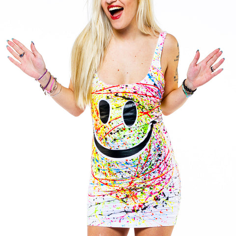 GRIN T-DRESS WHITE