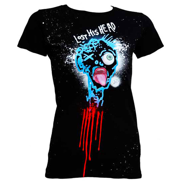 COUCHUK - UV REACTIVE - LOST HIS HEAD WOMENS T-SHIRT - Clubwear - PLUR - Rave clothing