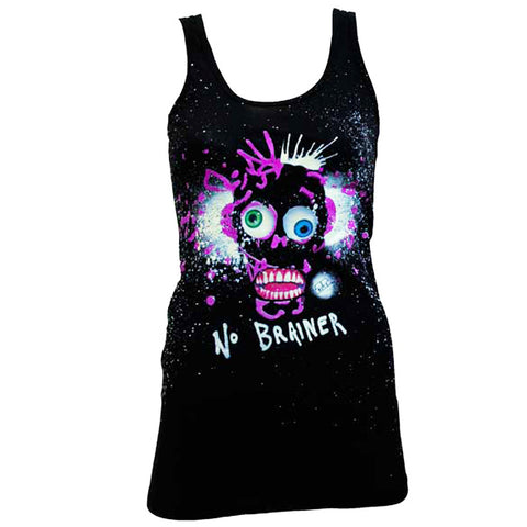 COUCHUK - UV REACTIVE - NO BRAINER  T-DRESS BLACK - Clubwear - PLUR - Rave clothing