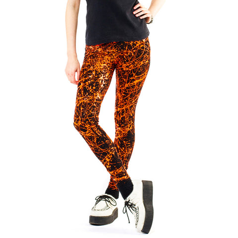 SPLAT LEGGINGS ORANGE