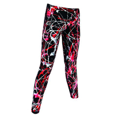 COUCHUK - UV REACTIVE - SCRAPE LEGGINGS RED - Clubwear - PLUR - Rave clothing